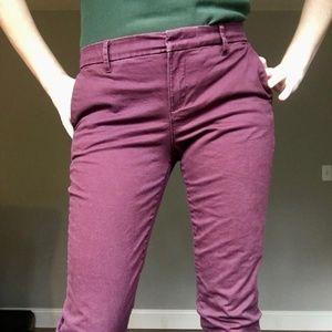 Tommy Hilfiger Eggplant Skinny Ankle Pants Size 4
